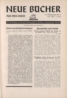 Neue Bücher aus dem Reich, 13. Jahrgang, 1938, Nr.5