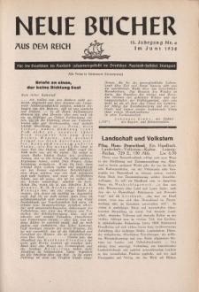 Neue Bücher aus dem Reich, 13. Jahrgang, 1938, Nr.6
