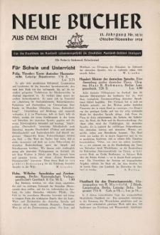 Neue Bücher aus dem Reich, 13. Jahrgang, 1938, Nr.10/11