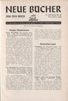 Neue Bücher aus dem Reich, 13. Jahrgang, 1938, Nr.12