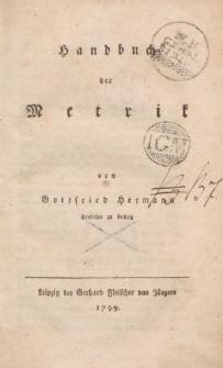 Handbuch der Metrik [ … ]