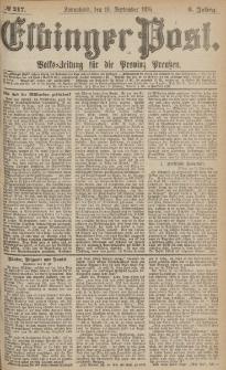Elbinger Post, Nr.217 Sonnabend 16 September 1876, 3 Jh