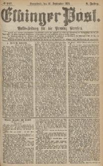 Elbinger Post, Nr.218 Sonntag 17 September 1876, 3 Jh