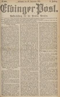 Elbinger Post, Nr.220 Mittwoch 20 September 1876, 3 Jh