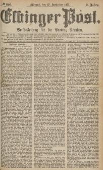 Elbinger Post, Nr.226 Mittwoch 27 September 1876, 3 Jh