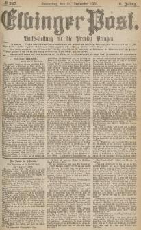 Elbinger Post, Nr.227 Donnerstag 28 September 1876, 3 Jh