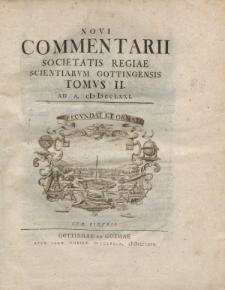 Novi commentarii Societatis Regiae Scientarum Gottingensis t. 2