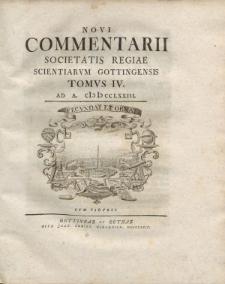 Novi commentarii Societatis Regiae Scientarum Gottingensis t. 4