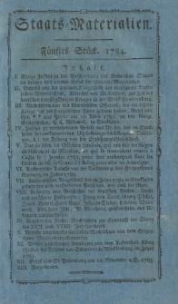 Staats-Materialien und historisch-politische Aufklärungen für das Publikum: vorzüglich zur Kenntniß des deutschen Vaterlandes in ältern und gegenwärtigen Zeiten. Fünftes Stück