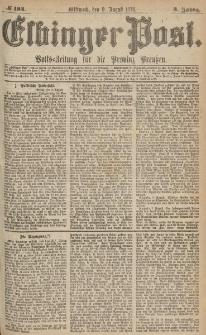 Elbinger Post, Nr.184 Mittwoch 9 August 1876, 3 Jh