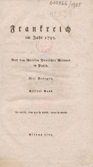 Frankreich im Jahr 1795. Aus den Briefen deutscher Männer in Paris