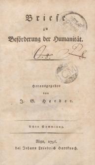 Briefe zu Beförderung der Hümanität […] Achte Sammlung