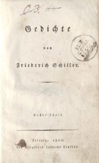Gedichte von Friederich Schiller