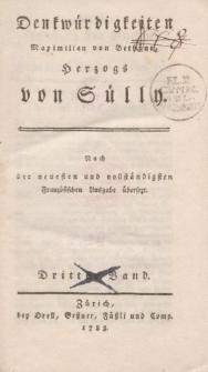 Denkwürdigkeiten Maximilian von Bethüne Herzogs von Sülly […] Dritter Band