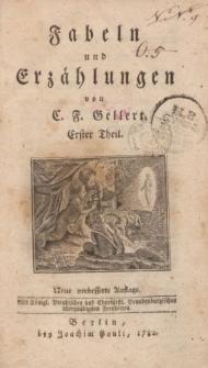 Fabeln und Erzählungen von C.F. Gellert. Erster Theil