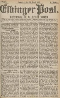 Elbinger Post, Nr.199 Sonnabend 26 August 1876, 3 Jh