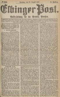 Elbinger Post, Nr.200 Sonntag 27 August 1876, 3 Jh