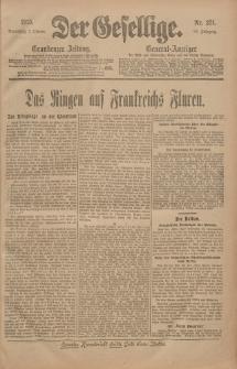 Der Gesellige, Nr. 231, Sonnabend, 2. Oktober 1915