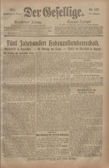 Der Gesellige, Nr. 247, Donnerstag, 21. Oktober 1915