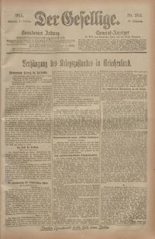 Der Gesellige, Nr. 252, Mittwoch, 27. Oktober 1915
