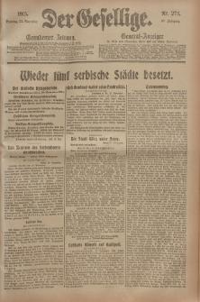 Der Gesellige, Nr. 273, Sonntag, 21. November 1915