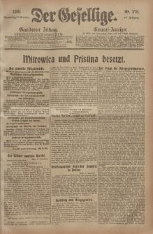 Der Gesellige, Nr. 276, Donnerstag, 25. November 1915
