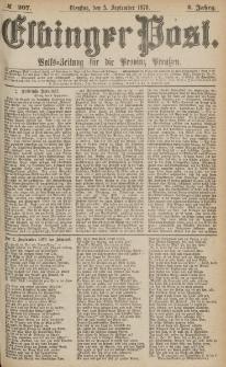 Elbinger Post, Nr.207 Dienstag 5 September 1876, 3 Jh