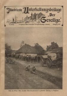 """Illustrierte Unterhaltungsbeilage """"Der Gesellige"""", 40. Woche, Jahrgang 1915"""