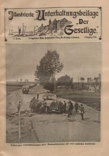 """Illustrierte Unterhaltungsbeilage """"Der Gesellige"""", 42. Woche, Jahrgang 1915"""