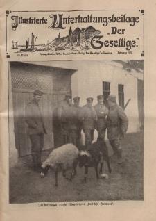 """Illustrierte Unterhaltungsbeilage """"Der Gesellige"""", 48. Woche, Jahrgang 1915"""