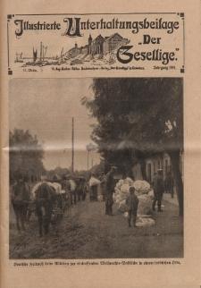 """Illustrierte Unterhaltungsbeilage """"Der Gesellige"""", 52. Woche, Jahrgang 1915"""
