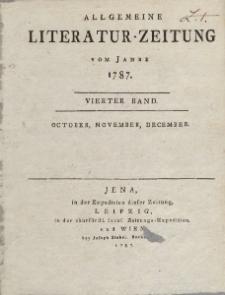 Allgemeine Literatur-Zeitung vom Jahre 1787. Vierter Band. October, November, December.