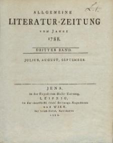 Allgemeine Literatur-Zeitung vom Jahre 1788. Dritter Band. Julius, August, September.