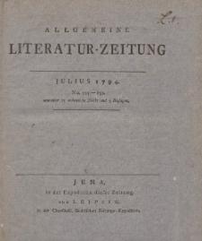 Allgemeine Literatur-Zeitung vom Jahre 1794. Dritter Band. Julius, August, September.