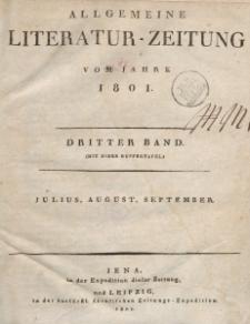 Allgemeine Literatur-Zeitung vom Jahre 1801. Dritter Band. Julius, August, September.