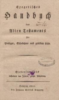 Exegetisches Handbuch des Alten Testaments für Prediger, Schullehrer und gebildete Leser. Siebentes Stück enthaltend den Jesaias; zweyte Abtheilung