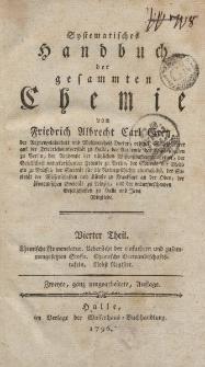 Systematisches Handbuch der gesammten Chemie von Friedrich Albrecht Carl Gren […] Vierter Theil […]