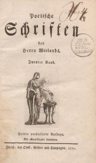 Poetische Schriften des Herrn Wielands. Zweyter Band