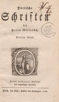 Poetische Schriften des Herrn Wielands. Dritter Band