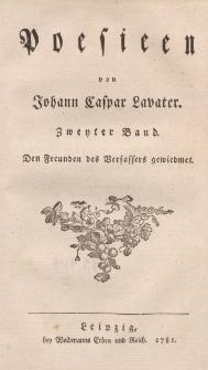 Poesieen von Johann Caspar Lavater. Zweyter Band […]