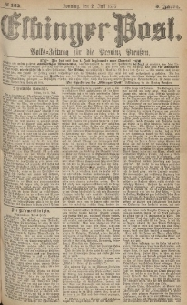 Elbinger Post, Nr.152 Sonntag 2 Juli 1876, 3 Jh
