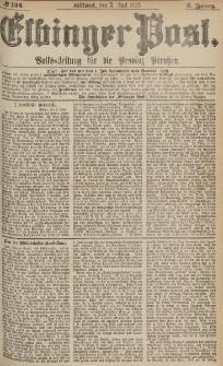 Elbinger Post, Nr.154 Mittwoch 5 Juli 1876, 3 Jh