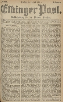 Elbinger Post, Nr.159 Dienstag 11 Juli 1876, 3 Jh