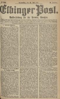 Elbinger Post, Nr.161 Donnerstag 13 Juli 1876, 3 Jh