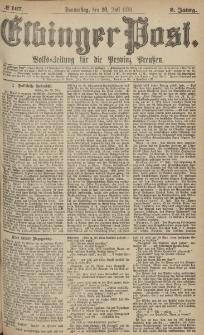 Elbinger Post, Nr.167 Donnerstag 20 Juli 1876, 3 Jh