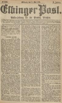 Elbinger Post, Nr.103 Mittwoch 3 Mai 1876, 3 Jh
