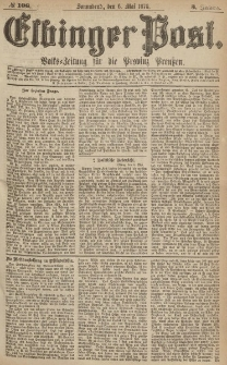 Elbinger Post, Nr.106 Sonnabend 6 Mai 1876, 3 Jh