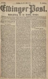 Elbinger Post, Nr.119 Dienstag 23 Mai 1876, 3 Jh
