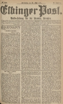 Elbinger Post, Nr.125 Mittwoch 31 Mai 1876, 3 Jh