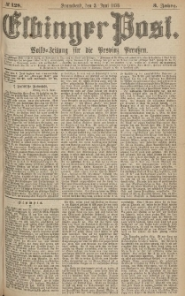 Elbinger Post, Nr.128 Sonnabend 3 Juni 1876, 3 Jh